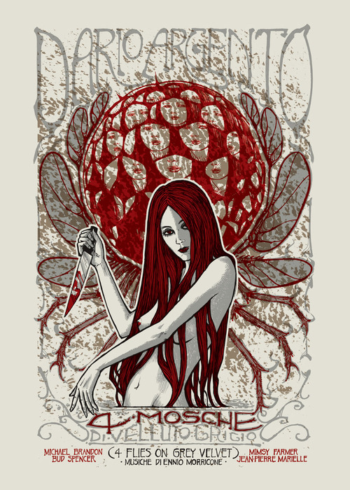 Posters for Dario Argento's horror films - Malleus