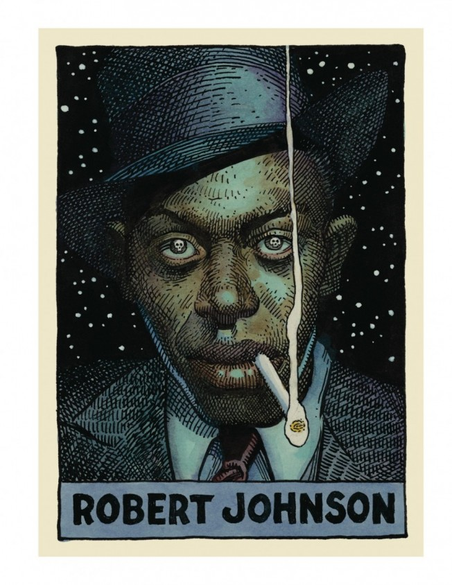 nuncalosabre. Legends of the Blues by William Stout - Robert Johnson