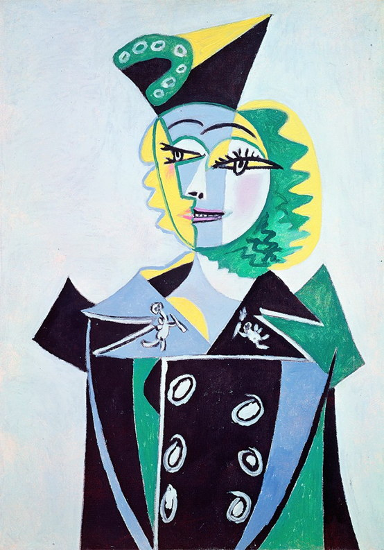 Maison Schiaparelli | Portrait of Nusch (oil on canvas), 1937, Pablo Picasso | nuncalosabre | arte | fashion