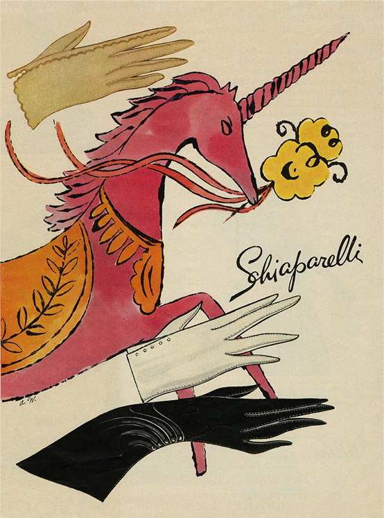 Maison Schiaparelli | Illustration for Schiaparelli gloves, 1953, Andy Warhol | nuncalosabre | arte | fashion